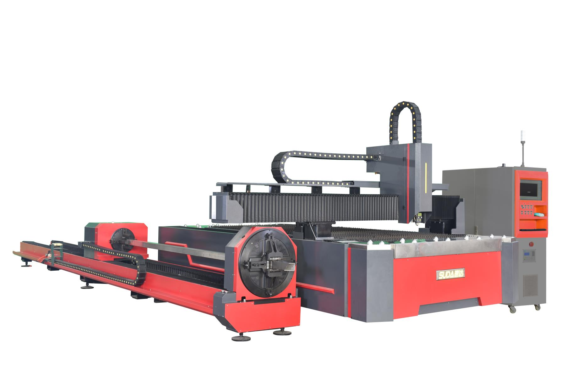 SUDA FG3015 fiber laser cutting machine with rotary device